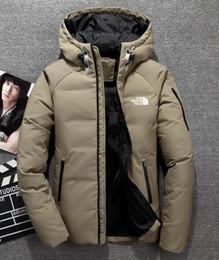 044842825b 2018 Outdoor north Men s Down Jacket Coat Comfort Breathable Lightweight  Warm Solid hooded Headphones Natural Color face jacket 1805