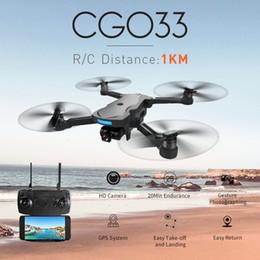 Quad ombreiro on-line-Cg033 Brushless Fpv Quadrotor Com 1080p helicóptero Hd Wifi Gimbal câmera ou sem câmera Rc dobrável Drone Gps Dron caçoa o presente T190621