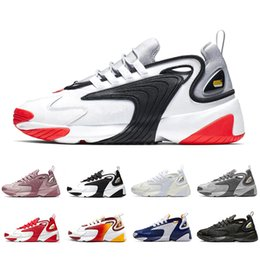 Мужские синие красные кроссовки онлайн-Nike air zoom 2k shoes Rainbow Triple Black Creamy White Zoom 2K M2K men running shoes Tekno Race Red Royal Blue Dark Grey mens women Outdoor sports sneaker
