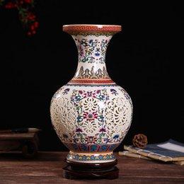mosto per esterni decorazione vaso in ceramica composizione floreale in porcellana bottiglia in porcellana soggiorno in stile cinese decorazione mobile TV da