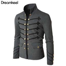 vesti victoriani Sconti 2019 Man Purim Victorian Gothic Style Jacket Zipper Christian Medieval Knight Coat Solido Medioevo Maschile Abbigliamento da carnevale Y