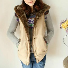 Искусственный мех подкладка женщин зима онлайн-3xl плюс размер женщин жилет зима теплая верхняя одежда повседневная подкладка из искусственного меха молнии