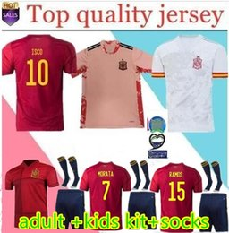 kit spain Desconto MEN KIDS KIT 2020 Espanha eruo jerseys copo de futebol 2020 spain Camiseta adulto KIT camisa de futebol de futbol ASENSIO MORATA ISCO RAMOS INIESTA mai