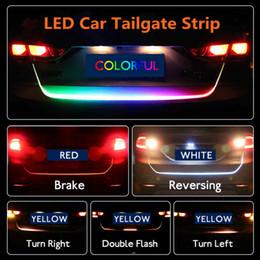luces led de maletero del coche Rebajas Tira LED de luz trasera del coche Tira de luz 4 colores Freno Conducción Lámpara de señal de giro Señal de conducción Knight Trunk Lamp HHA55