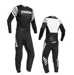 Maglia blu motocross online-2020 blu Motocross Jersey e la mutanda Con la compressione interna breve ATV BMX Motocross Jersey Set ATV Suit Moto Gear Set