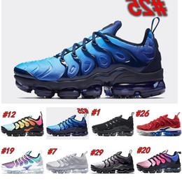 Nike Air TN Plus Дизайнерская обувь TN Plus TRIPLE BLACK Обувь Для дизайнерских кроссовок Уличные кроссовки Walking Luxury повседневная обувь от Поставщики slingback peep toe свадебная обувь