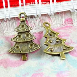 50pcs 17.7 * 25.5MM bronzo antico moda in ottone albero di natale ciondoli per bracciale in metallo vintage pendenti con orecchini fatti a mano gioielli fai da te makin da