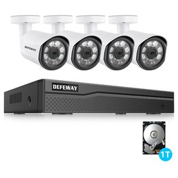 security system hdd Promo Codes - DEFEWAY 4CH 1080P POE CCTV Security Surveillance System HDMI NVR with 1TB HDD 2MP Night Vision Outdoor IP Camera P2P Video Kit