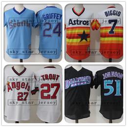 Argentina mayoristas retro y de malla Mike Trout jerseys Houston jersey Astros Los Angeles jersey Angels Seattle jerseys Marineros Justin Verlander Randy cheap mesh wholesale Suministro