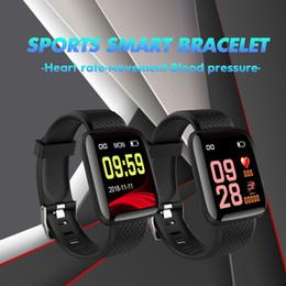 Smart Watch 116 PLUS 1,3-дюймовый TFT-экран роскошные часы Браслет Bluetooth Водонепроницаемый Частота сердечных сокращений Артериальное давление Шаг Push сообщение от Поставщики дюймы bluetooth умные часы