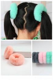 Kafa aksesuarları Kadın Kızlar Hairband Taklit kürk Elastik Bantları Sevimli Yumuşak At Kuyruğu Tutucu Halat Saç Aksesuarları şapkalar nereden