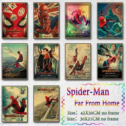 2019 flugzeug gemälde Far From Home Marvel Filmplakate für Hauptdekor Superheld Retro Plakat-Wand-Kunst-Plakat-Malerei: