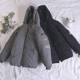 2019 корейский стиль шапка Осень и зима Хлопчатобумажная мужская корейская версия Короткий стиль Красивый тренд Толстый Хлеб Стиль одежды Простой досуг дешево корейский стиль шапка