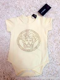 Pantalones cortos de escalada online-Marca Baby Boy Summer Romper Brillo brillante Bebé manga corta mono triángulo monos escalada infantil nuevo
