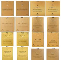 2019 карточный слон Ювелирные изделия ожерелье с карты золотой серебряный цвет Удачи слон единорог кулон благородный колье Валентина Рождественский подарок 60 стили B11 дешево карточный слон