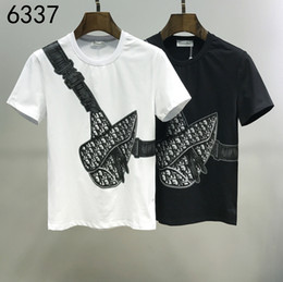 Painel de classificação de cor on-line-2020ss primavera e algodão novo alto grau de verão impressão de manga curta rodada painel pescoço t-shirt Tamanho: m-l-xl-XXL-XXXL Cor: rq50 preto branco