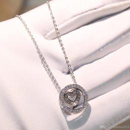 Gros professionnel Choucong bijoux de luxe 925 Sterling Silver White Sapphire CZ Diamant Chanceux Coeur Pendentif Fille Collier Pour Femmes ? partir de fabricateur