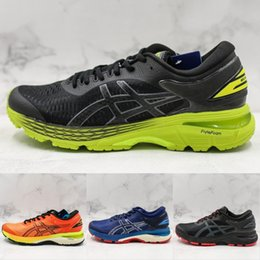 5d4800ee407f 2019 Asics GEL-KAYANO 25 New Arrivals Men Running Shoes Balck Blue Asics  Mens Designer Sports Training Sneakers Size 40-45