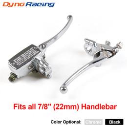 """guidão de haste de barra Desconto Motocicleta 7/8"""" 22MM guiador Cilindro Mestre Hydraulic Brake Control Com Clutch Lever"""