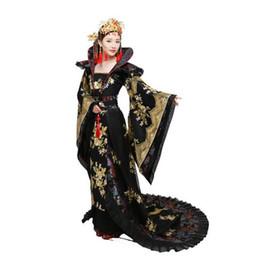 Китайский наряд черный онлайн-2019 костюм женский hanfu трейлинг платье женская Китайская традиционная одежда Китай черный Мечницы ТВ фильм этап наряд