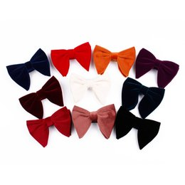 52332a025f8a Fashion Woman Golden Velvet Bowknot Causal Female Solid Color Tie Plush Velvet  Gentleman Bowknot Wedding Party TTA542