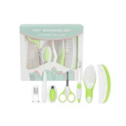Productos de aseo personal online-7 Unids / set kit de cuidado de artículos de tocador del bebé tijeras de uñas cuidado de seguridad kit de tijeras Sets de Aseo para bebés productos de cuidado personal B11