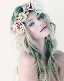 2019 bilder haare stirnbänder Mode Frauen Haar Stirnband Haarschmuck böhmischen Blumen mit der Braut machen Bilder Überschrift Meer Tourist Kranz günstig bilder haare stirnbänder