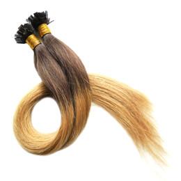Cheveux de fusion vierges brésiliens en Ligne-Hot Ombre Vierge Pré Collé Ongles U Extensions de Cheveux 100s Kératine Fusion Ongles CONSEIL Extensions de Cheveux Humains Vierge Brésilienne Droit Remy