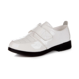 party dress white boys Promo Codes - Fashion Child Wedding Shoes Party Spring Breathable Boy Dress Leather Kid Shoes White Black School For Boys TX71