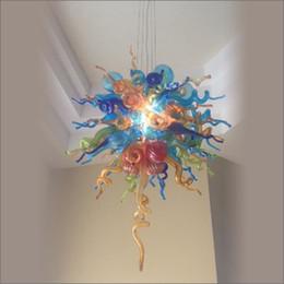 Pièces maîtresses de mariage lustre en verre soufflé de style tiffany 100% coloré de style de Chihully soufflé en bouche avec des ampoules de 110v-240v LED ? partir de fabricateur
