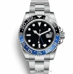 Argentina nwe GMT Azul Negro Relojes Hombres Cerámica Bisel Mecánico Acero inoxidable Automático 2813 Movimiento Reloj Deportes Automático viento Relojes de pulsera luminosos Suministro