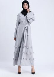 2019 mujeres étnicas de ropa Vestimenta étnica Mujeres Árabes Vestidos largos de túnica Floral Oriente Medio Vestido formal mujeres étnicas de ropa baratos