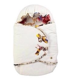 baumwolle bedruckte taschen für mädchen Rabatt 5 Art Mädchen-Babyschlafsäcke wärmen Steppdeckenpaket europäische Druckmarke neugeborene Schlafsack-Decke Freies Verschiffen