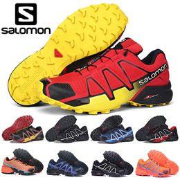 i più nuovi pattini di pallacanestro fuori Sconti Salomon Speed Cross 4 CS Scarpe da corsa Uomo Donna SpeedCross Scarpe da trekking all'aperto Nero Verde Rosso Uomo Designer Atletica Sport