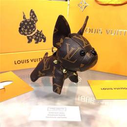 2019 moda nueva marca perro llavero llavero para mujeres bolsa llavero del coche Trinket regalo de la joyería recuerdos con caja para regalo desde fabricantes