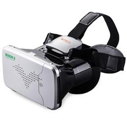 Lunettes virtuelles de théâtre privé en Ligne-Théâtre privé de casque monté sur la tête des lunettes de réalité virtuelle 3D VR avec télécommande pour smartphone de 3,5 à 6 pouces