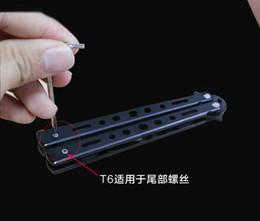 2019 eixos de flecha por atacado T6 T8 chave de fenda ferramenta de remoção Torx diassembling para a maioria das facas faca facas de banco como BM42 BRS A07 A162 A161 A163