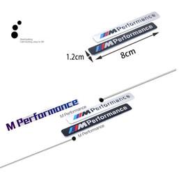 Estilo do carro Bmw E60 E61 E90 F13 Esporte F16 Esporte M Desempenho Logo Badge Metal De Alumínio Emblema Etiqueta Decalque de