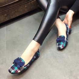 europäischer schuhgröße 42 Rabatt 2019 europäischen Frauen Casual Loafers Karree Bowtie Slip On Wohnungen Schuhe Frau Damen Einzelnen Schuhe Größe 35-42 Y190704