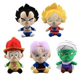 Bola de dragão z vegeta on-line-5 Estilos 18 CM Dragon Ball Z Brinquedos De Pelúcia Piccolo Vegeta Son Gohan Macio Stuffed Dolls Party Dolls Presente para crianças brinquedos