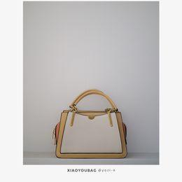 Кремовые топы онлайн-Осень мороженого цвета соответствие цвета сумка сумка сумка новый 2019 мода плечо