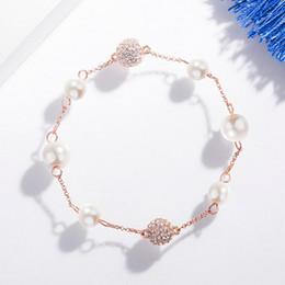 2019 swarovski charme armbänder Swarovski 2019 Neue Natürliche Kristall Perle Armband Frauen Mode Bettelarmband Europäischen Internet Promi Temperament Schmuck günstig swarovski charme armbänder