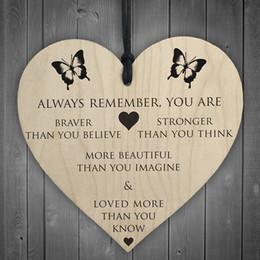 cumprimentos do dia de mães Desconto placa de madeira Você é mais forte Bravo Mais Forte Bonito De Madeira Coração Pendurado Amigos placa