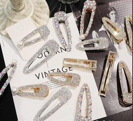 DHL / EMS GRATUIT 200pcs fait main coréen brillant diamant dame épingles à cheveux des femmes de la mode Big Pearls cristal pinces à cheveux pour les filles Accessoires de cheveux ? partir de fabricateur
