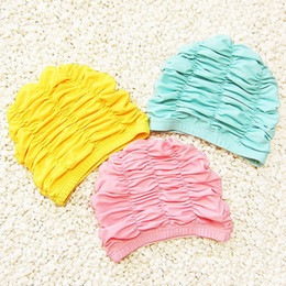 nuotare i cappelli per i capelli lunghi Sconti Cute Solid Pink Girls Cuffia da bagno Cuffia da nuoto impermeabile Cuffia da nuoto Cuffia da nuoto per bambini