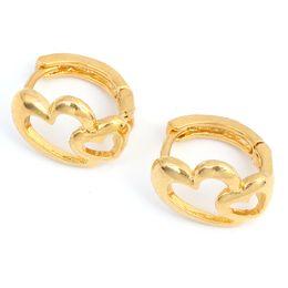 2019 boucles d'oreilles en or indien Boucles d'oreilles coeur filles Dubai bijoux en or turc égyptien algérie indien marocain saoudien bijoux en or promotion boucles d'oreilles en or indien
