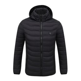 USB Şarj elektrik Isıtmalı Yelek Ceket New Men Coat Giyim Kayak Kış Sıcak ısıtma Pad Aşağı Yelek ceket nereden sevimli kazak hoodie tedarikçiler