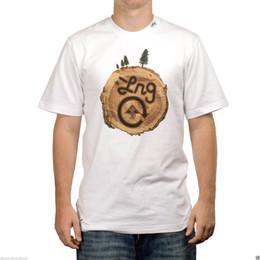 t-shirts de bronzeamento para homens Desconto Lrg o logjam branco marrom screenprint manga curta skate t-shirt dos homens 2018 masculino de manga curta top tee frete grátis