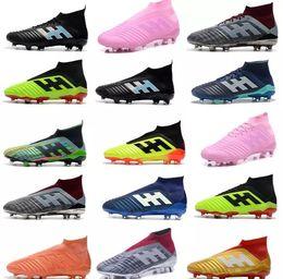 d9b5d72a6913 2019 New Mens Football Boots Predator 18+x Pogba FG Accelerator DB Soccer  Shoes PureControl Purechaos Cristiano Ronaldo Soccer Cleats