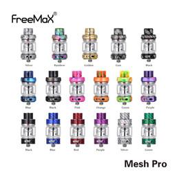 Original Freemax Mesh Pro Tank 5 ml Resina Bubble Glass Versión Sub Ohm Atomizador Fit Doble bobina de malla triple 100% auténtico desde fabricantes